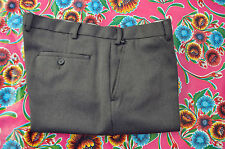"Vintage green polyester trousers waist 40"" country classic"