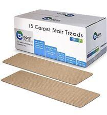 15x Non-Slip Carpet Stair Treads 8x30 Latte Pre-Applied Adhesive Slip Resistance