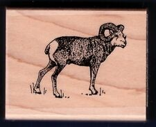 RAM BIG HORN Wildlife Scene Animal Stampin' Up! 1994 Wood Craft RUBBER STAMP