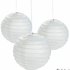 12 Small WHITE Paper Chinese Lanterns centerpieces Wedding Party Decorations