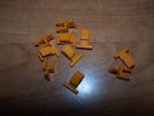 K'nex Gold Track Splice Lot of 10