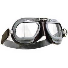 Halcyon Mk9 Mark 9 Goggles Super Jet Vented Grey Brown Motorcycle Aviation Retro