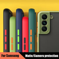 For Samsung Galaxy S21 Ultra S20 FE Note 20 A52 A72 Matte Clear Hard Case Cover