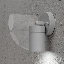 Lámpara de Pared Exterior Foco Halógeno Orientable Giratorio Aluminio Gris IP44