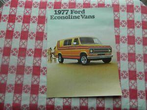 1977 Ford Econoline Vans Original Sales Brochure in Mint Condition