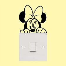 Minnie mouse_Light Switch_ Wall Art _Funny Decal Vinyl Sticker