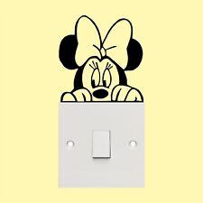 Minnie Mouse _ interrupteur _ murale _ Marrant Autocollant Vinyle Autocollant
