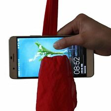 Amazing Red Silk Thru Phone By Close-Up Street Magic Trick Show Prop Tool Hot