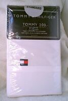 Set of 2 Tommy Hilfiger Standard Size Cotton Pillowcases Bleached WHITE NEW NWT