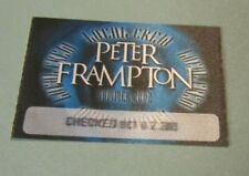 Peter Frampton Summer 2002 Tour Local Crew Concert Pass Vintage Music Souvenir