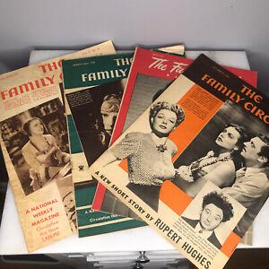 Lot of (8) The Family Circle Magazine 1934 To 1945 Vintage Ephemera