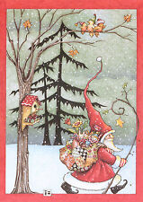 Mary Engelbreit-Santa Claus Quilted Toy Sack Birds-Paperworks Blank Card-New!