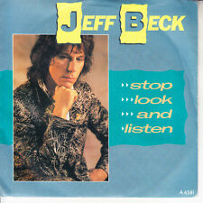 "JEFF BECK  Stop, Look & Listen PICTURE SLEEVE 7"" 45 record NEW + jukebox strip"