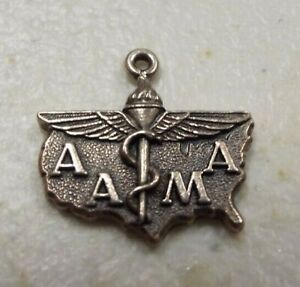 Vintage AAMA United States cTo Sterling Silver Charm
