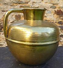 Authentique Canne à lait ancienne Normandie XIXe Cruche Pot Bombonne laiton