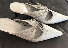 Emporio Armani Mules Pantoletten Pumps Ecru Luxus Schuhe Haute Couture Gr. 37