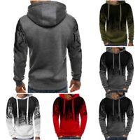 Hooded Sport Warm Mens Jacket Coat Tops Pullover Sweatshirt Hoodie Fleece Casual