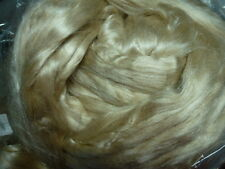 Tussah Silk Top Honey Gold Natural Fiber Spinning  Papermaking Dye 4 Ounces