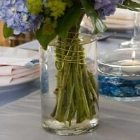 """Case of Glass Cylinder Vase Clear 7 1/4"""" - 12/Pk - Wedding Centerpieces, Event"""