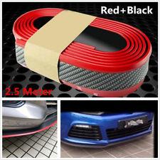 Car SUV Red 2.5M Front Bumper Lip Splitter Body Spoiler Skirt Rubber Protector