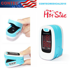 Contec Pulse Rate Oximeter Spo2 Led Blood Oxygen O2 Monitor Color Blue Cms50m