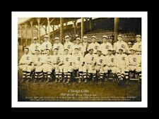 CHICAGO CUBS 1908 WORLD SERIES CHAMPIONS MATTED TEAM PHOTO