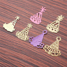 3pcs Gold Metal Hat Cutting Dies Stencil DIY Scrapbooking Diary Template Decor