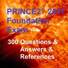 PRINCE2 2017 Foundation 300 REAL Exam Questions & Answers & References