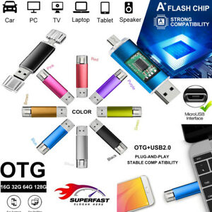 OTG Pen Drive 2 in 1 Micro USB 64GB Flash Memory Stick For Android/Samsung LOT