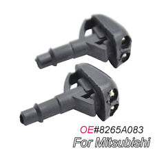Pair of Front Wiper Washer Nozzle Jet Fit For Mitsubishi Triton 1996-2006 Lancer