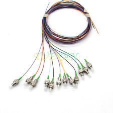 1.2M 12 Fibers FC/APC Single-Mode Colo Coded Fiber Optic Pigtail, Unjacketed