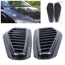 2Pcs Carbon Fiber Look Auto Car Air Flow Intake Scoop Vent Cover Hood Decoration
