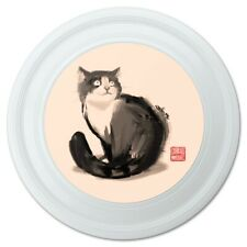 """Cat Traditional Chinese Ink Painting Novelty 9"""" Flying Disc"""