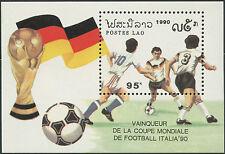 LAOS Bloc N°112** Football Italia 1990, Italy Soccer world cup Sheet MNH