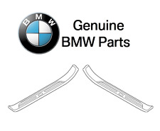 For BMW E39 525i 528i M5 Pair Set of Two Front Door Sill Plates Genuine