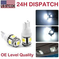 2x T10 360° W5W 5SMD 194,168,2825 White LED Bulbs fit License Plate Light Xenon
