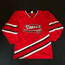 """Flint, MI IMA Sabres IHL Hockey Jersey Vintage Mens M """"Cramer"""" 1985-90 Minors"""
