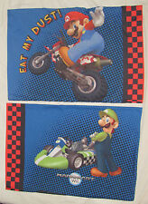 Nintendo Mario Kart Wii Pillowcase Set of 2 - Eat My Dust - Luigi - Bedding