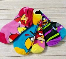 Angry Birds five pair socks size 6-8.5 nwt