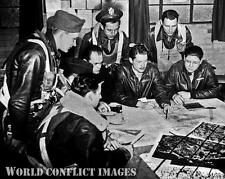 WW2 B-17 Bomber Pilot's Briefing 8x10 Photo 385th BG RAF Great Ashfield WWII