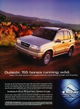 1998 1999 Suzuki Grand Vitara Original Advertisement Print Art Car Ad D112