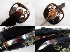 Battle ready folded steel clay tempered japanese samurai katana sword sharpened