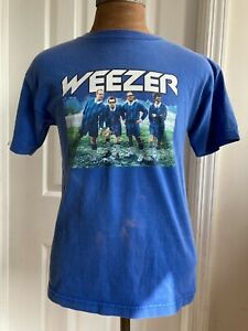 Vintage 2002 Weezer Enlightenment Tour T Shirt Sz M rock Concert Band