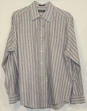 Lyle & Scott Scotland 100% Combed Cotton Striped Long Sleeve Dress Shirt Large L