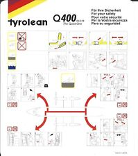 Safety Card - Tyrolean - Dash 8 Q400 - 2000 (S3901)