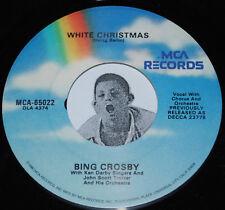 Holiday 45~BING CROSBY~White Christmas/ God Rest Ye Merry Gentlemen~MCA