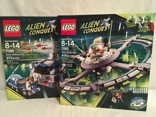 LEGO Space-Earth Defense HQ (7066) and Alien Mothership (7065) NEW UNOPENED