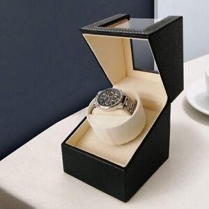 Automatic Watch Winder Box Single Winding Watch Turner Rotator Case Quiet Motor