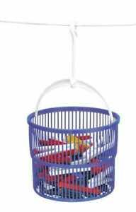 WENKO Wäsche Leinen Klammer Korb + 30 Stück bunt Aufbewahrung Behälter Aufhänger