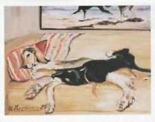 Salukis on Couch Notecard Set 6 Notecards Envelopes Gift Boxed Ruth Maystead